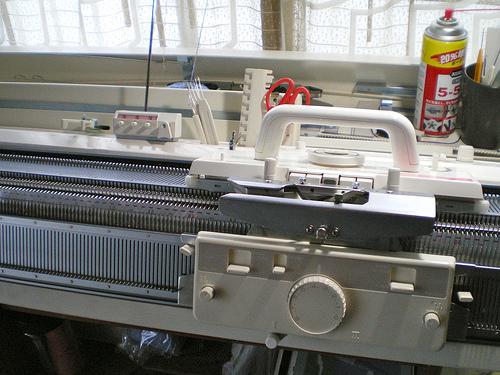 Узоры вязанные на машинке